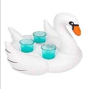 Sunnylife Party Supplies - Swan Inflatable Drink Holder for Summer Pool Party